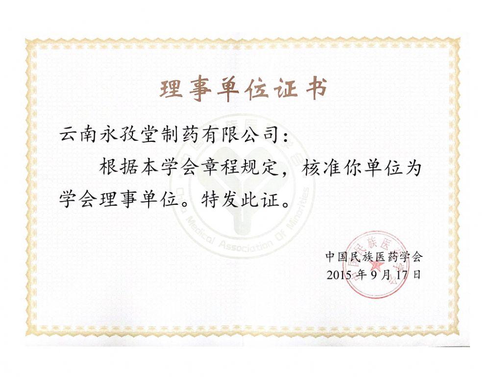 中国民族医药学会理事单位